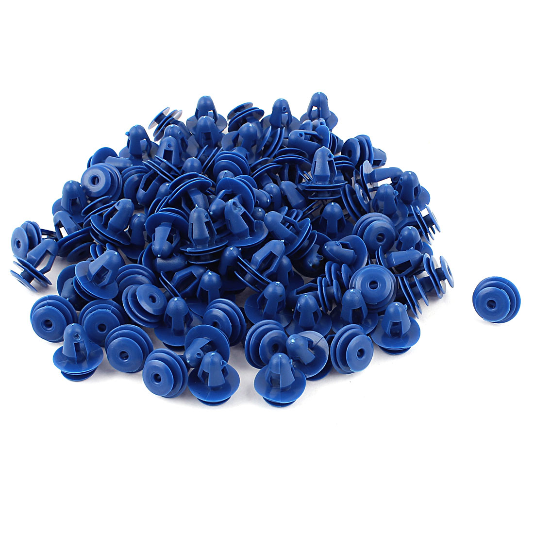 100 Pieces Auto Car Blue Plastic Rivets Fastener Door Clips for 8mm Hole