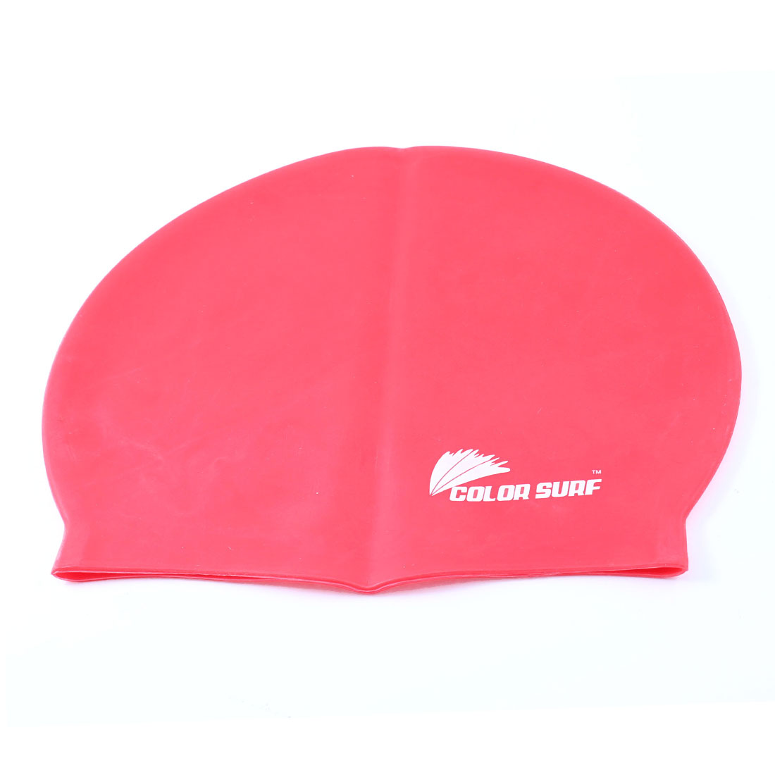 Adult Letter Printed Red Silicone Elastic Swim Swimming Training Cap