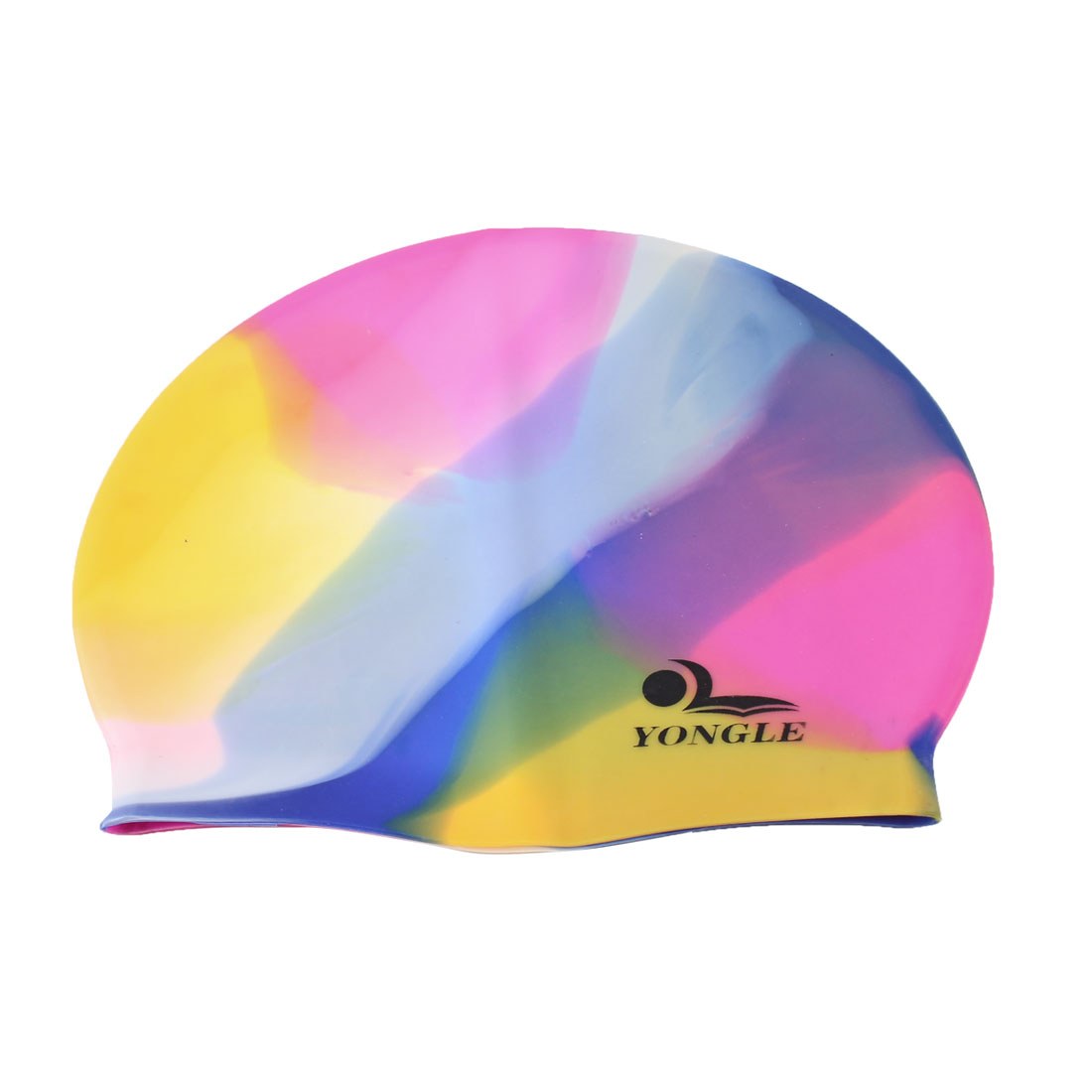 Adult Silicone Dome Shaped Elastic Swim Swimming Training Cap Assorted Color