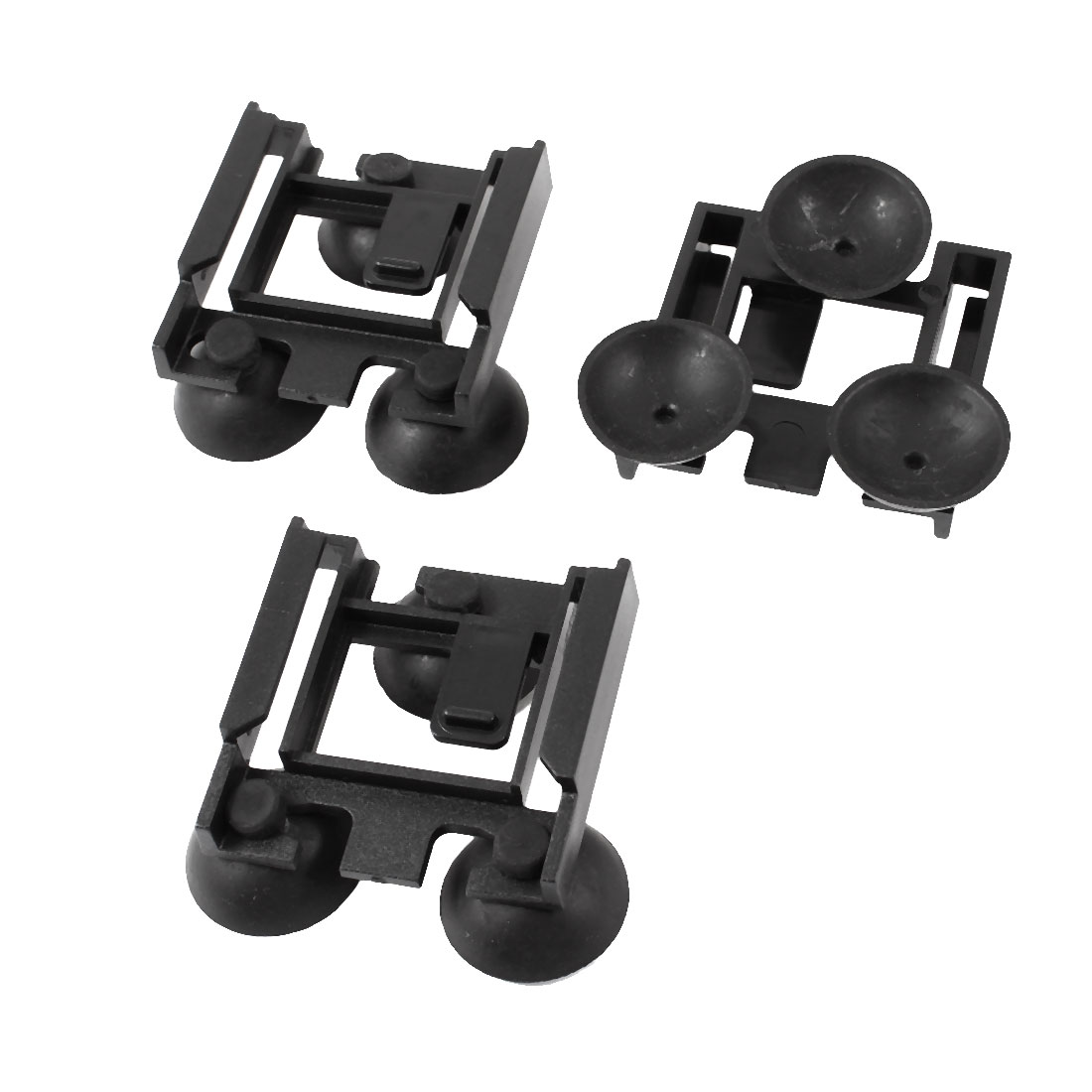 Black Sauqre Bracket Fish Tank Aquarium Internal Filter Suction Cup 3 Pcs