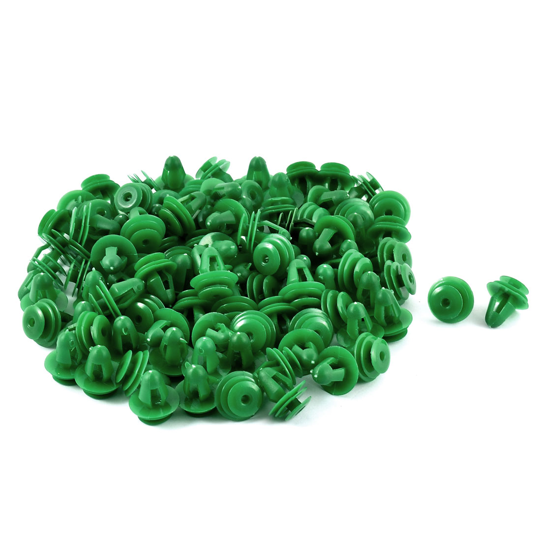 100 Pcs Plastic Rivet 8mm Hole Car Door Trim Panel Retainer Clip Green