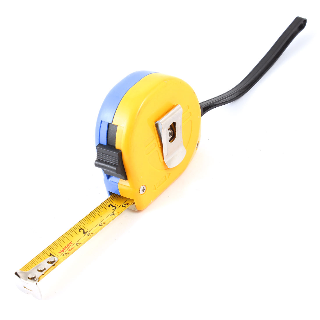 Self-Retract Style 5Meter 16Ft Portable Flexible Tape Measure Ruler Blue Orange