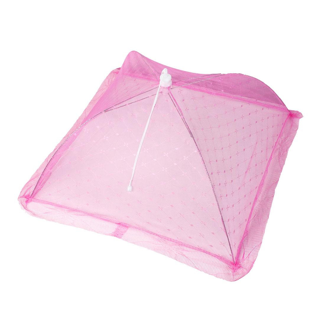 54cm x 54cm Camping Picnic Folding Anti-mosquito Umbrella Food Cover Pink