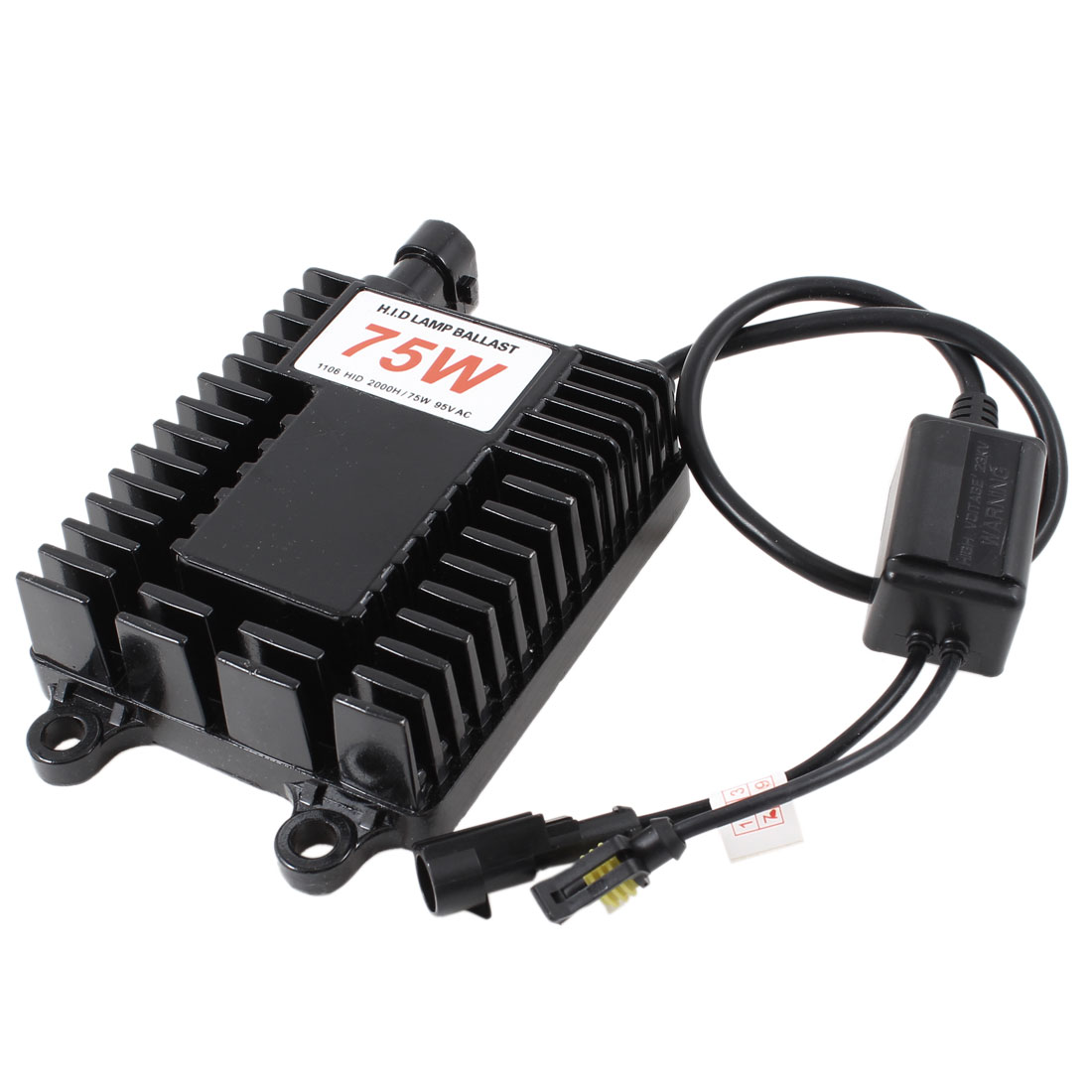 12V 75W HID Slim Ballast Black for 9003 9004 9005 9006 9007 9008 9145 5202 880 D2R