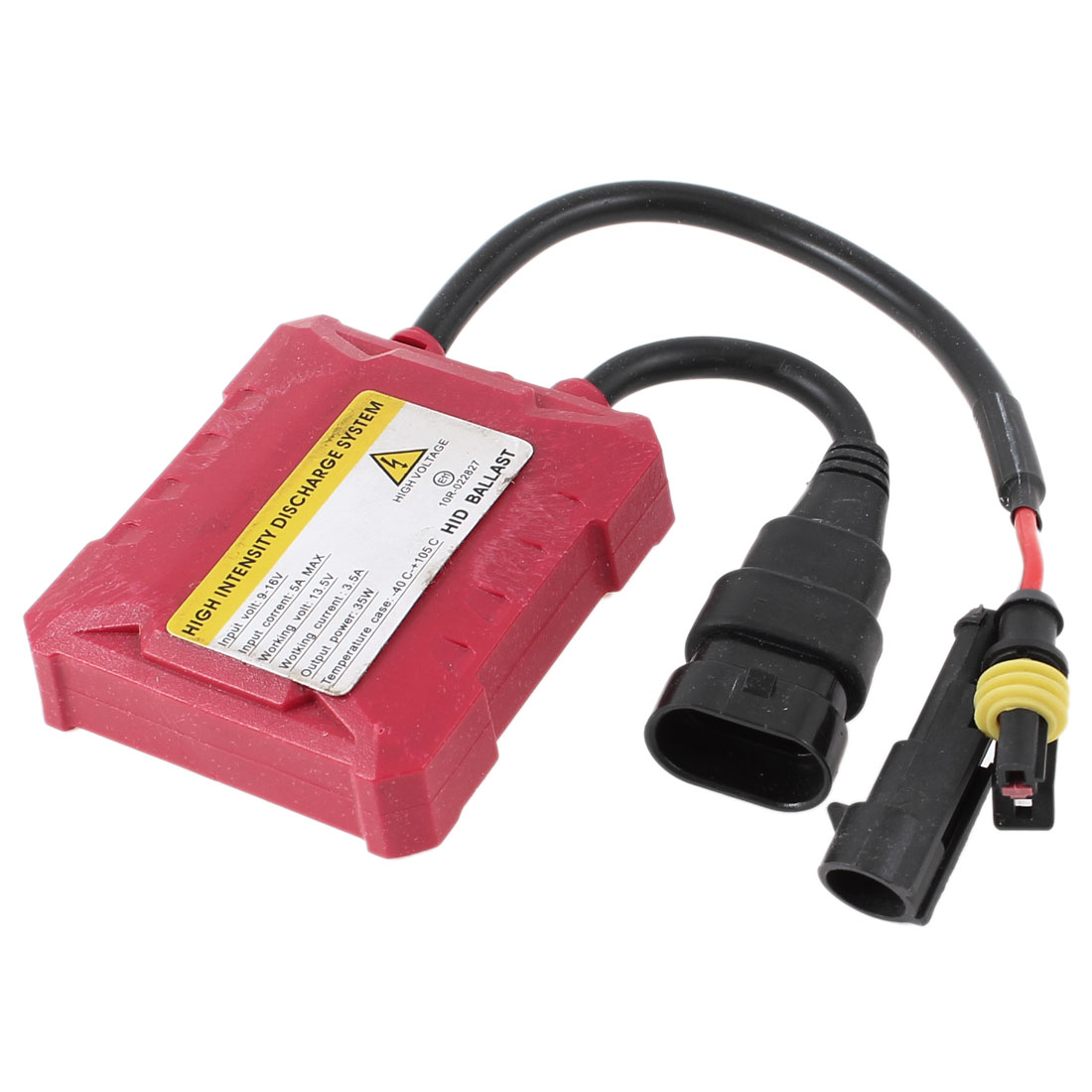 HID Replacement Ballast Red Metal Slim All Bulb 12V 35W fit 9005 H1