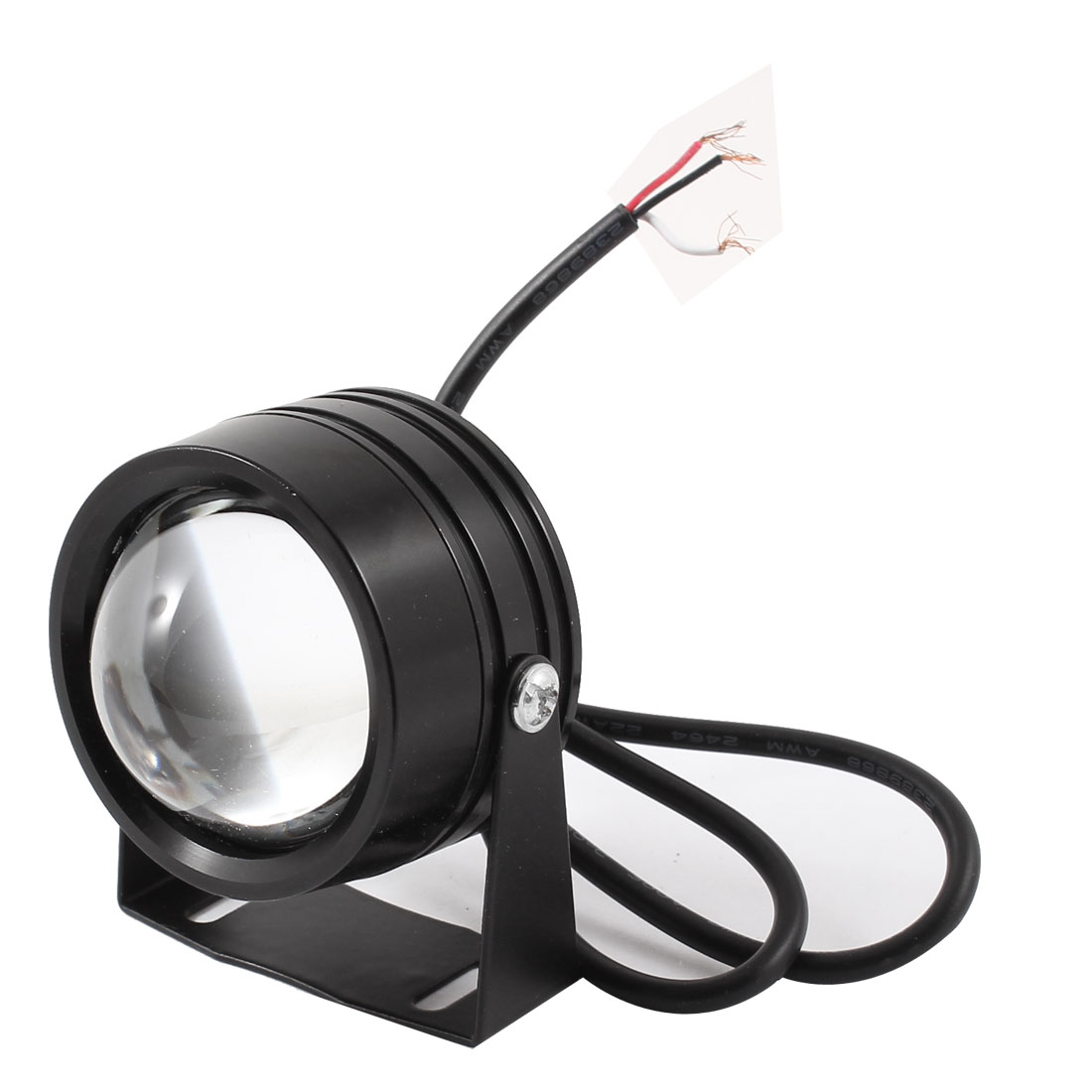 Black Metal Shell White LED Spotlight Lamp Decorative Lamp 12V for Autocycle