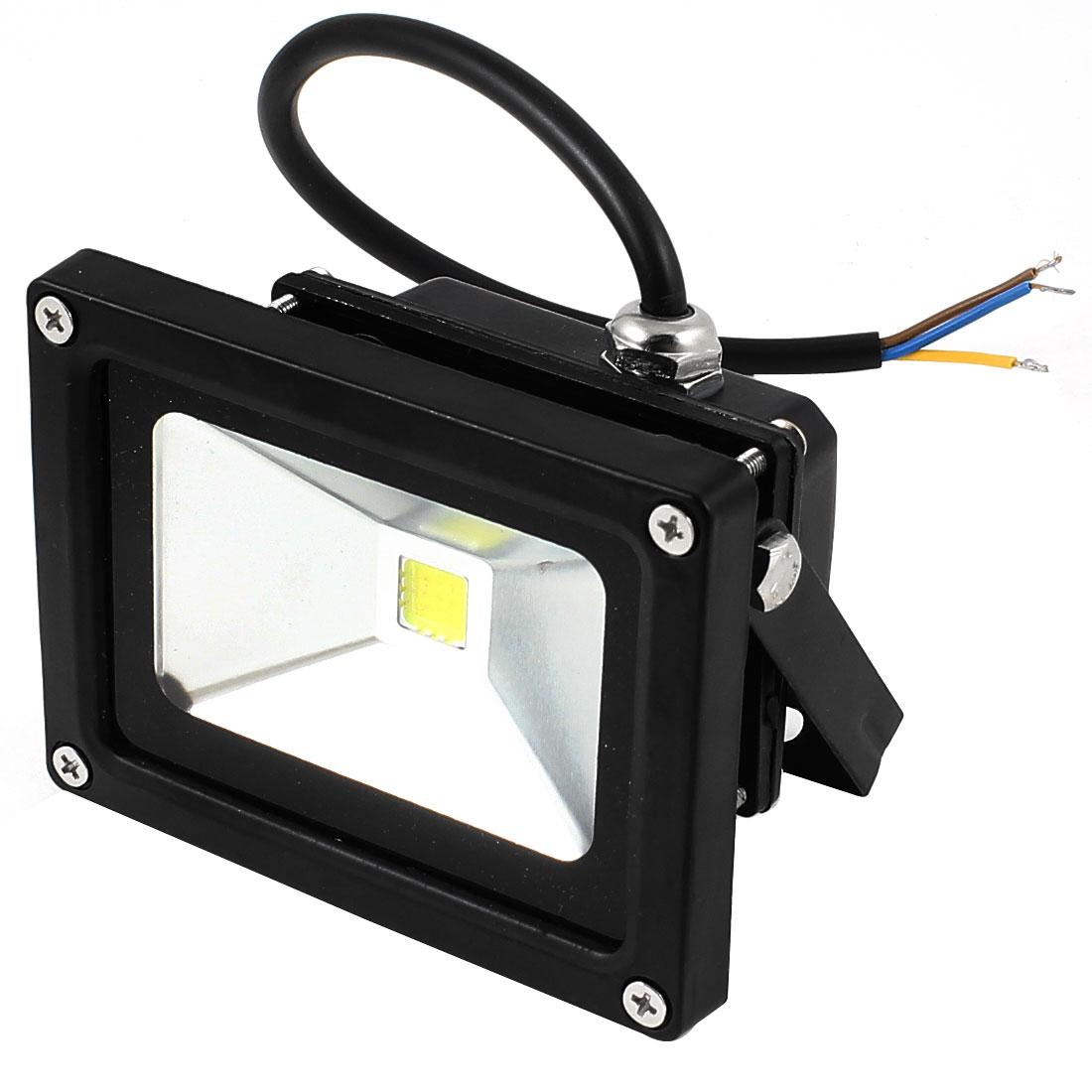 Black Retangle Metal Shell Car Lens Spot Light Spotlight Bulb White 220V 10W