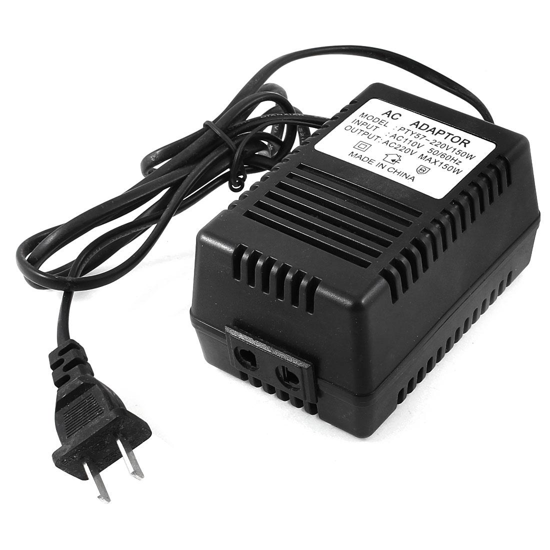 US Plug AC110V to AC220V 150W Adapter Power Converter Travel