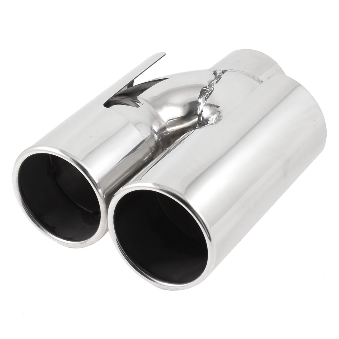 60mm Inlet Dual Tip Stainless Steel Exhaust Resonator Muffler Pipe for BMW X1