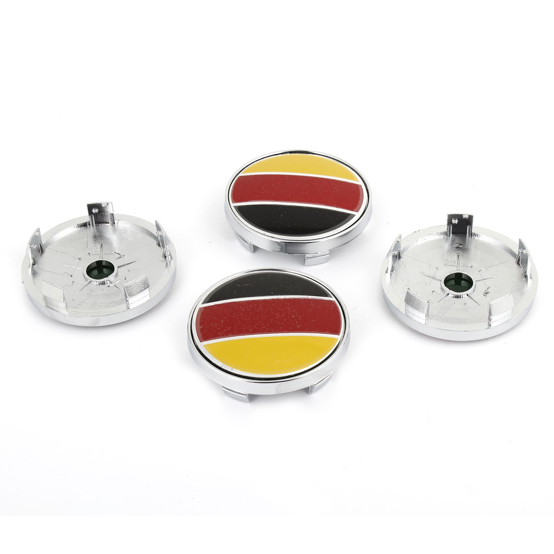 4 Pcs 60mm Dia GER Flag Pattern Plastic Wheel Covers for Vehicles Car
