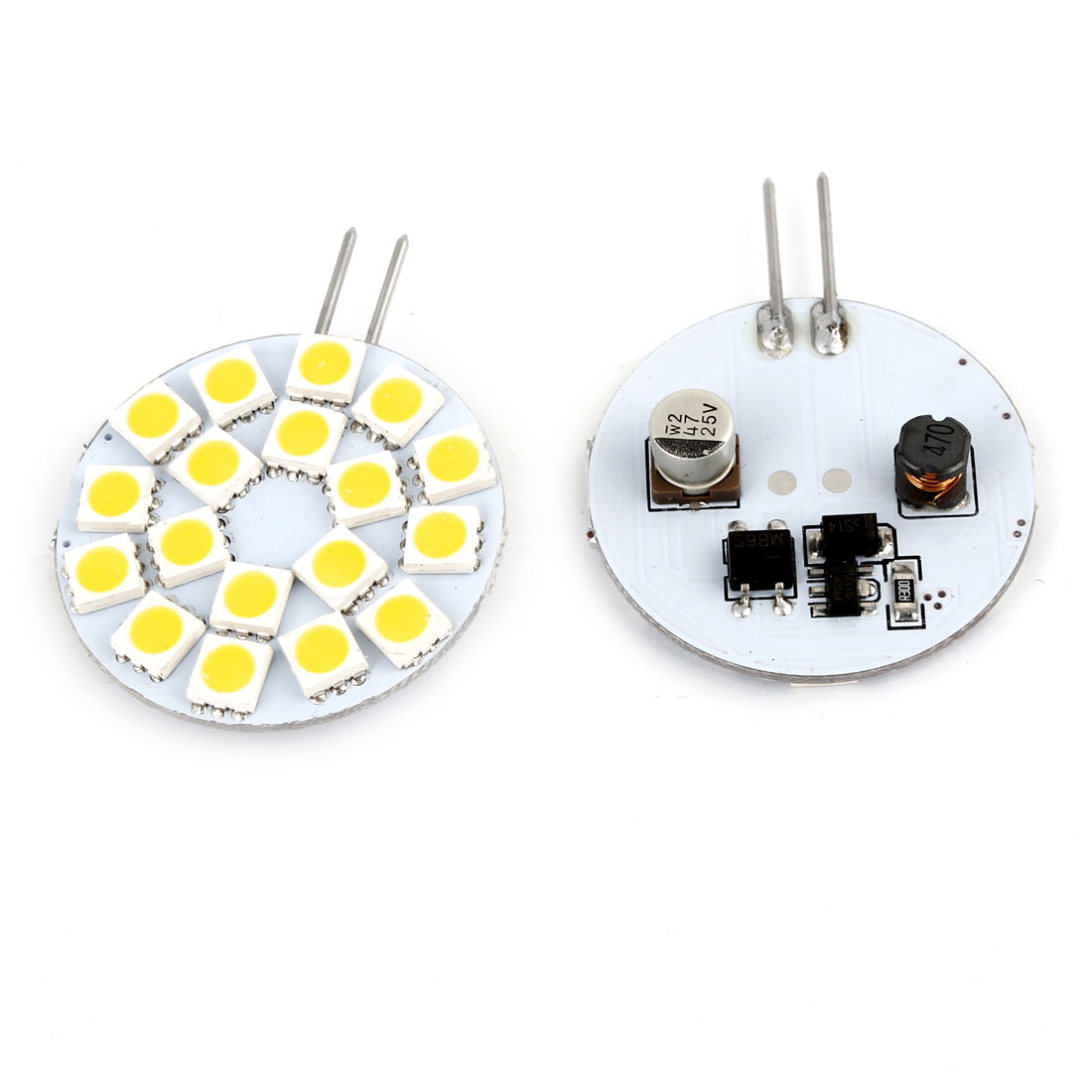 2 Pcs Sdie Pin G4 Warm White 5050 SMD 18 LED Bulb Light Lamp Internal