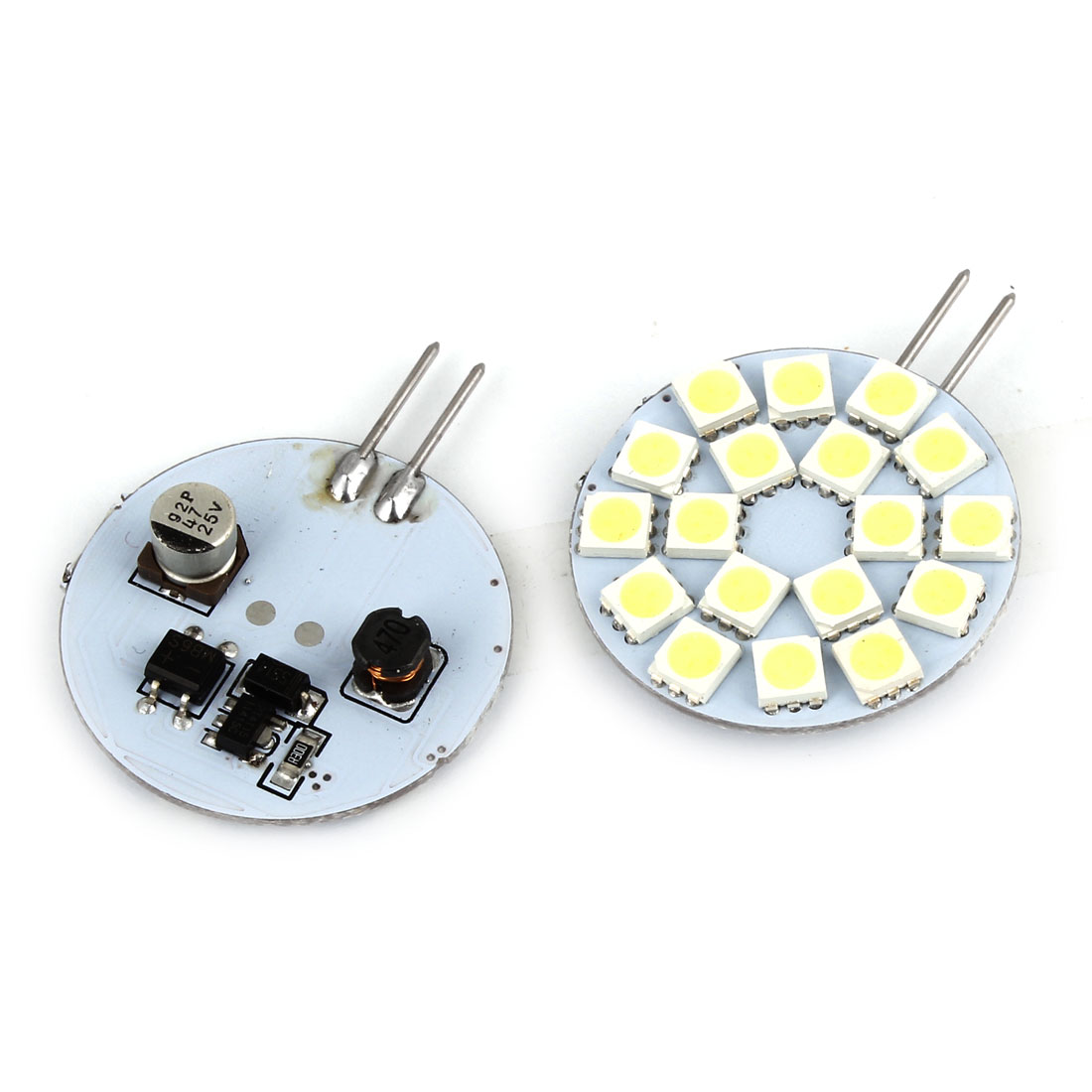 2 Pcs Sdie Pin G4 Base White 5050 SMD 18 LED Bulb Light Lamp Internal