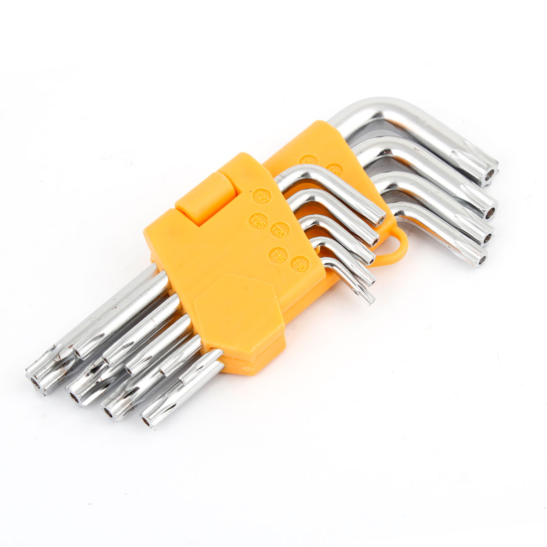 9 in 1 L Shaped Metal T10-T50 Hexagon Hex Key Wrench