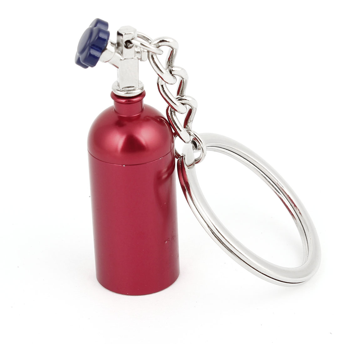 Red Metal Bottle Design Pendant Bag Hanging Keychain Keyring Oranment