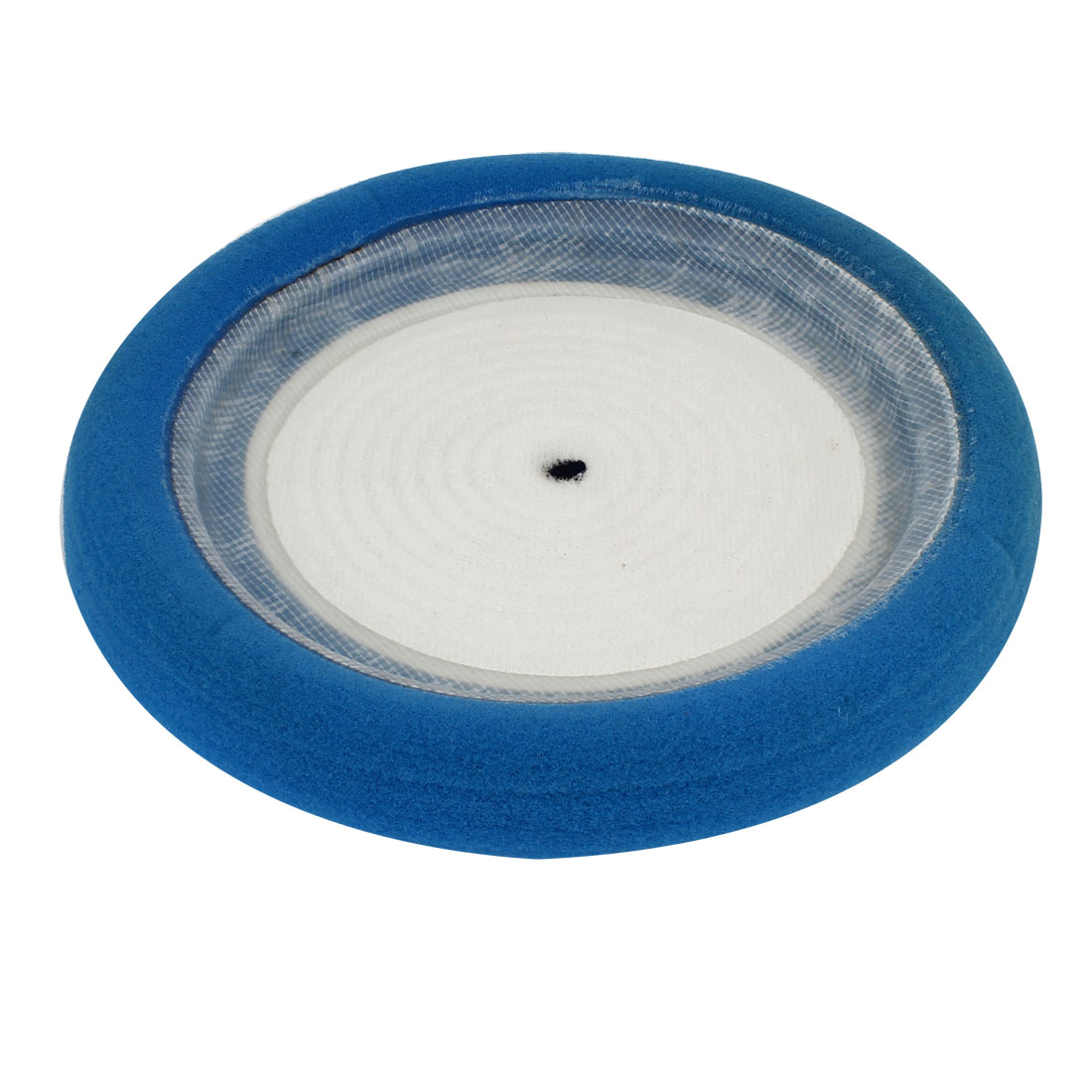 "10"" Dia Blue White Rounded Shape Soft Sponge Pad for Auto Car Wash Polishing"