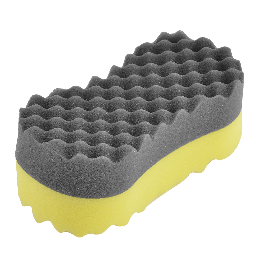 Auto Black Yellow Bone Shape Wax Buffing Polishing Sponge Pad Cleaner