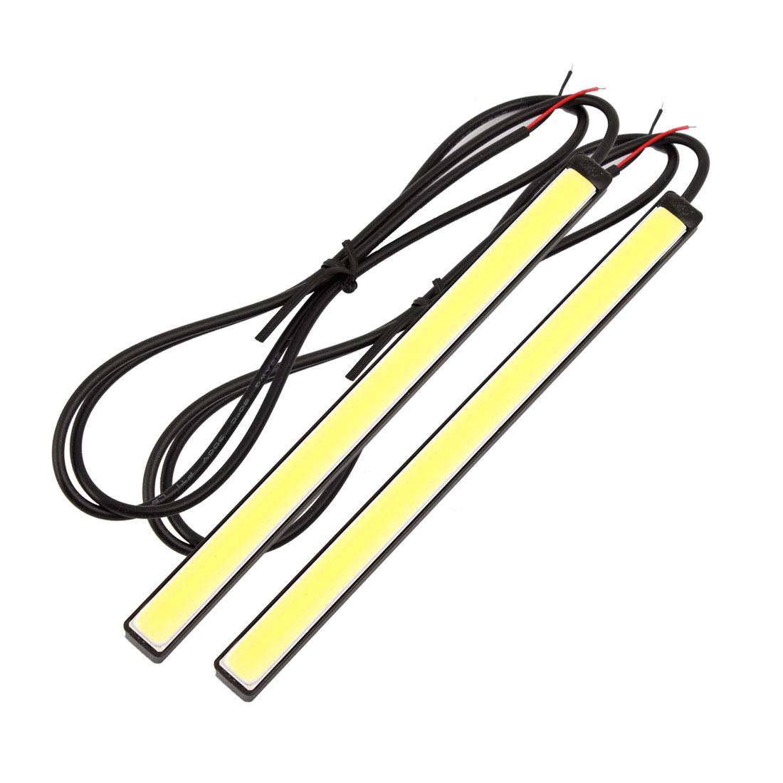 Pair 72 White COB LED Car DRL Driving Lamp Daytime Running Light 12V 17cm Long