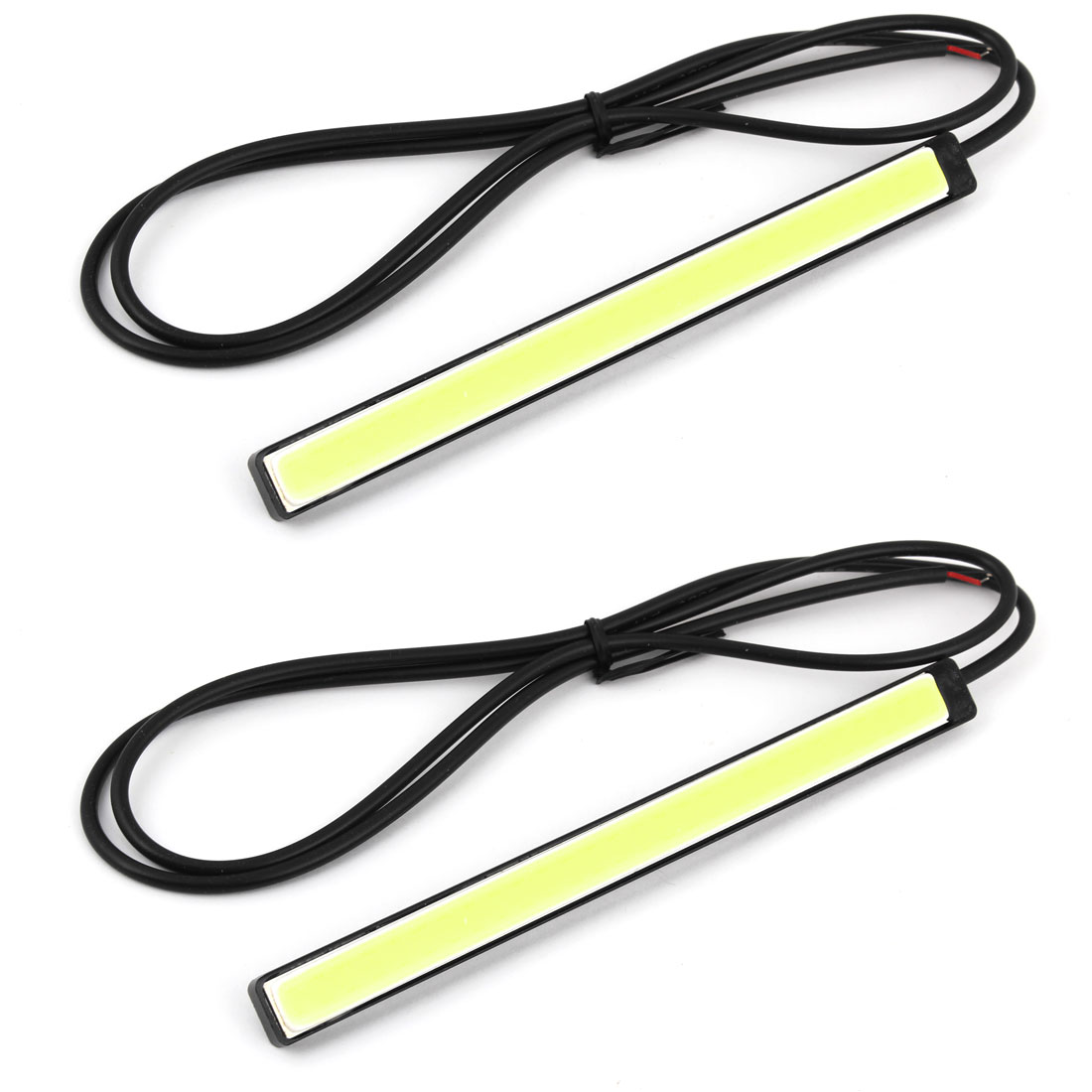 Pair White 56-LED COB Auto DRL Daytime Running Light Head Lamp Strip 12V 14cm Long