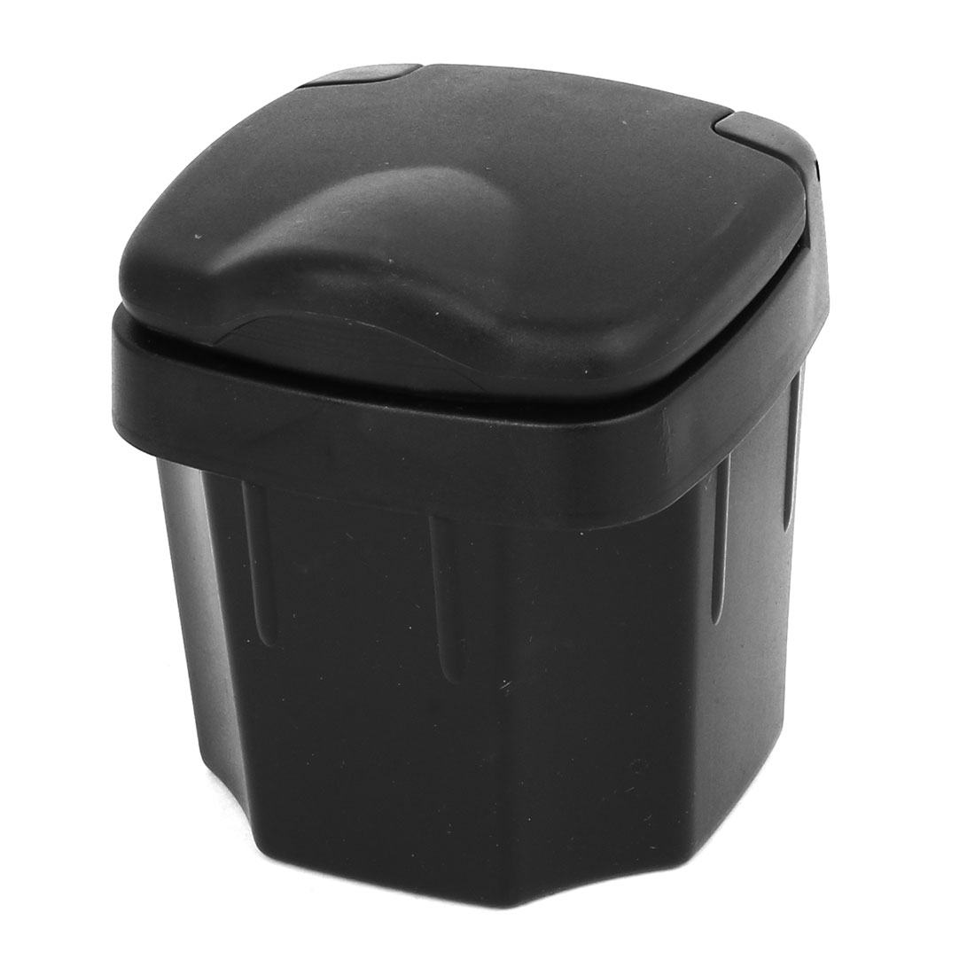 Portable Black Shell Retangle Shaped Plastic Ashtray Ash Holder Case