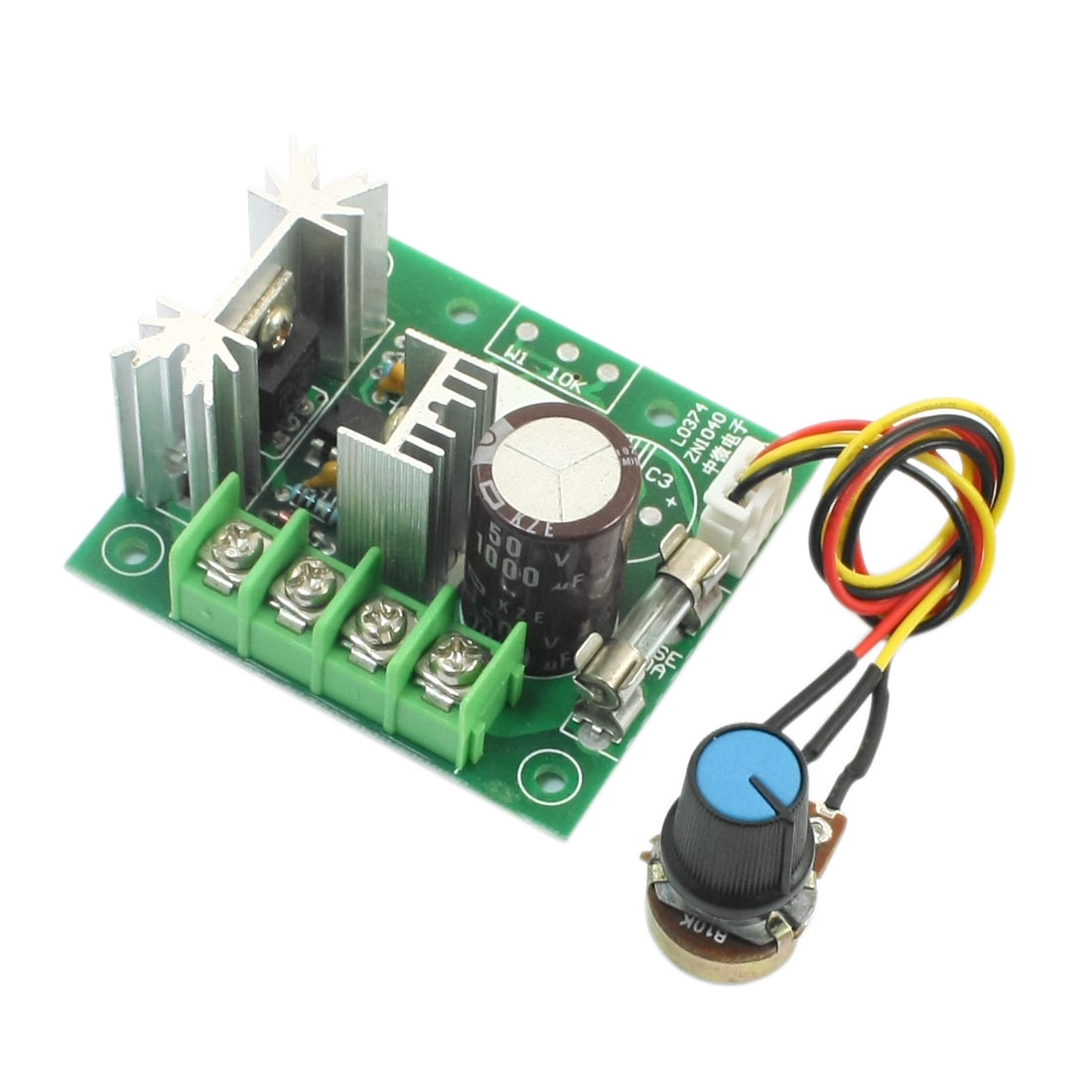 DC 5-15V 200W Pulse Width Modulation Rotary Adjustable B10K Potentiometer Knob PWM Motor Speed Controller Switch Governor Module 8""