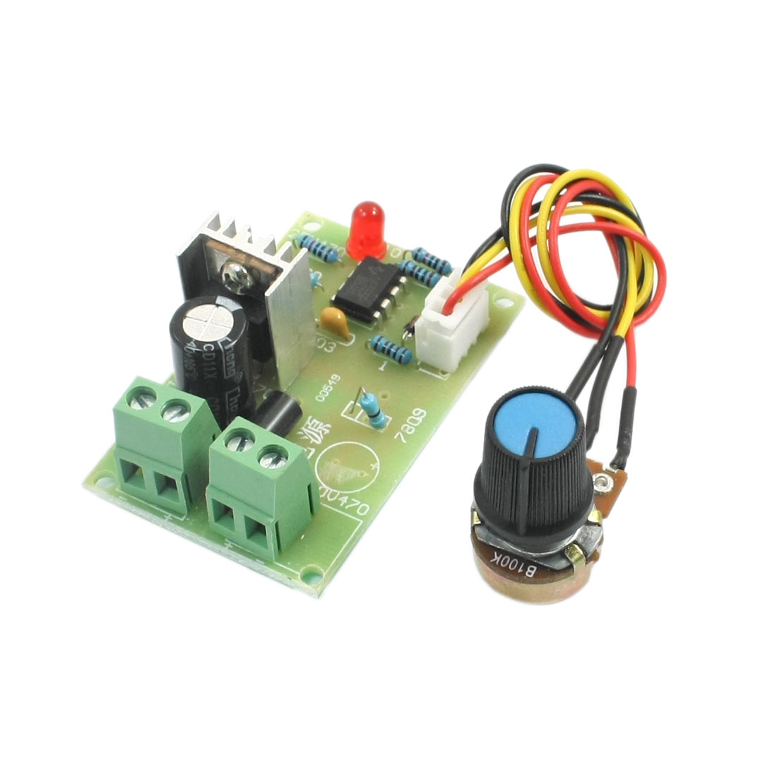 DC 6-16V 100W Pulse Width Modulation Rotary Adjustable B100K Potentiometer Knob PWM Motor Speed Controller Switch Governor Module 8""