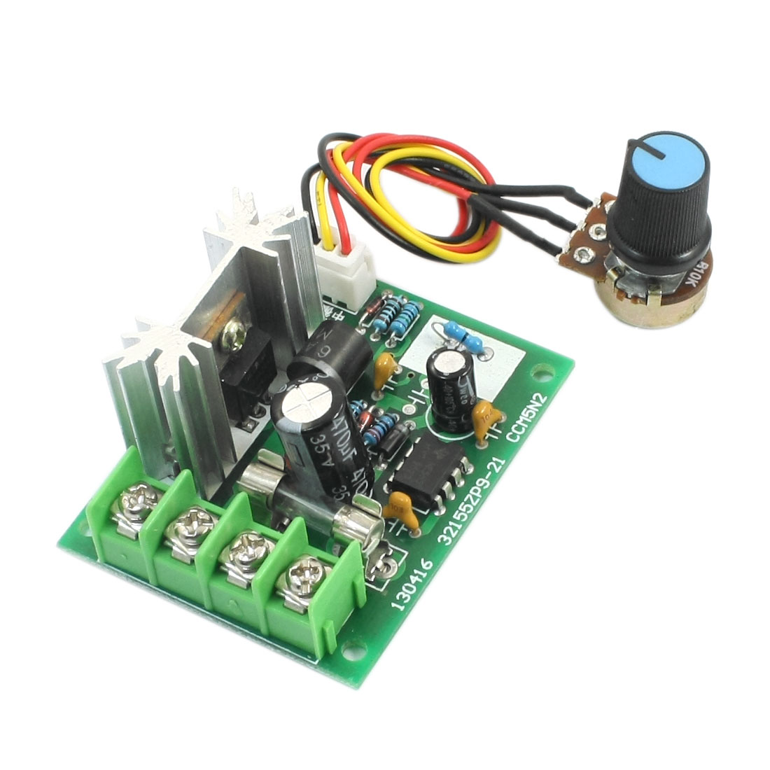 DC 5-16V 200W Pulse Width Modulation Rotary Adjustable Potentiometer Knob PWM Motor Speed Controller Switch Governor Module 8""