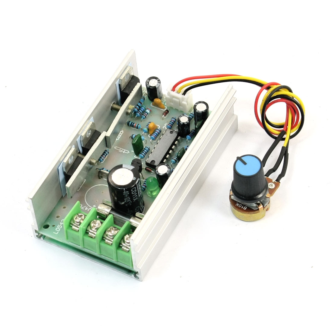 DC12-60V 10A Adjustable PWM Motor Speed Controller Governor Module w B10K Rotary Potentiometer