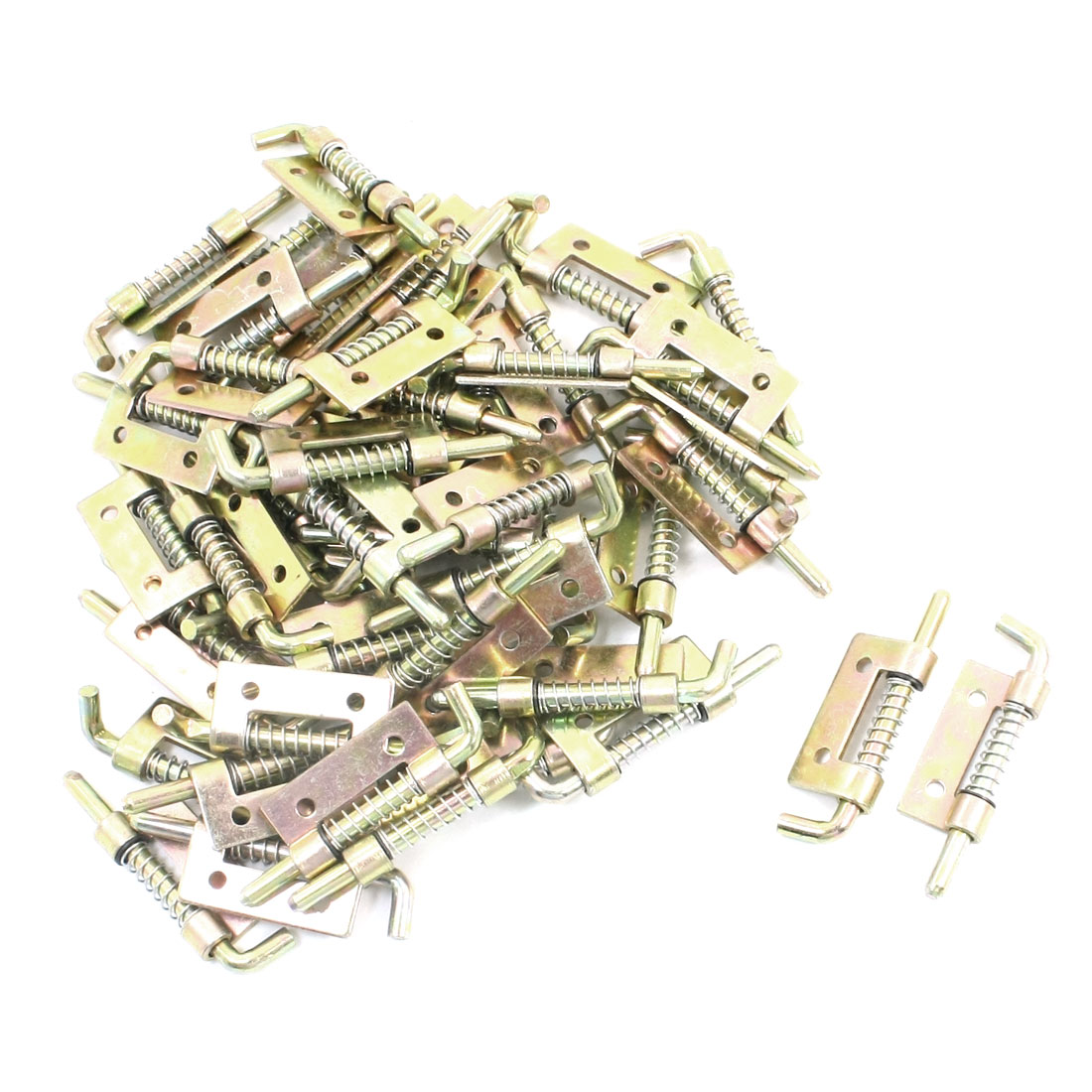 "Bronze Tone Metal Right-handed Spring Load Home Security Door Window Barrel Bolt Latch 2.2"" 50Pcs"