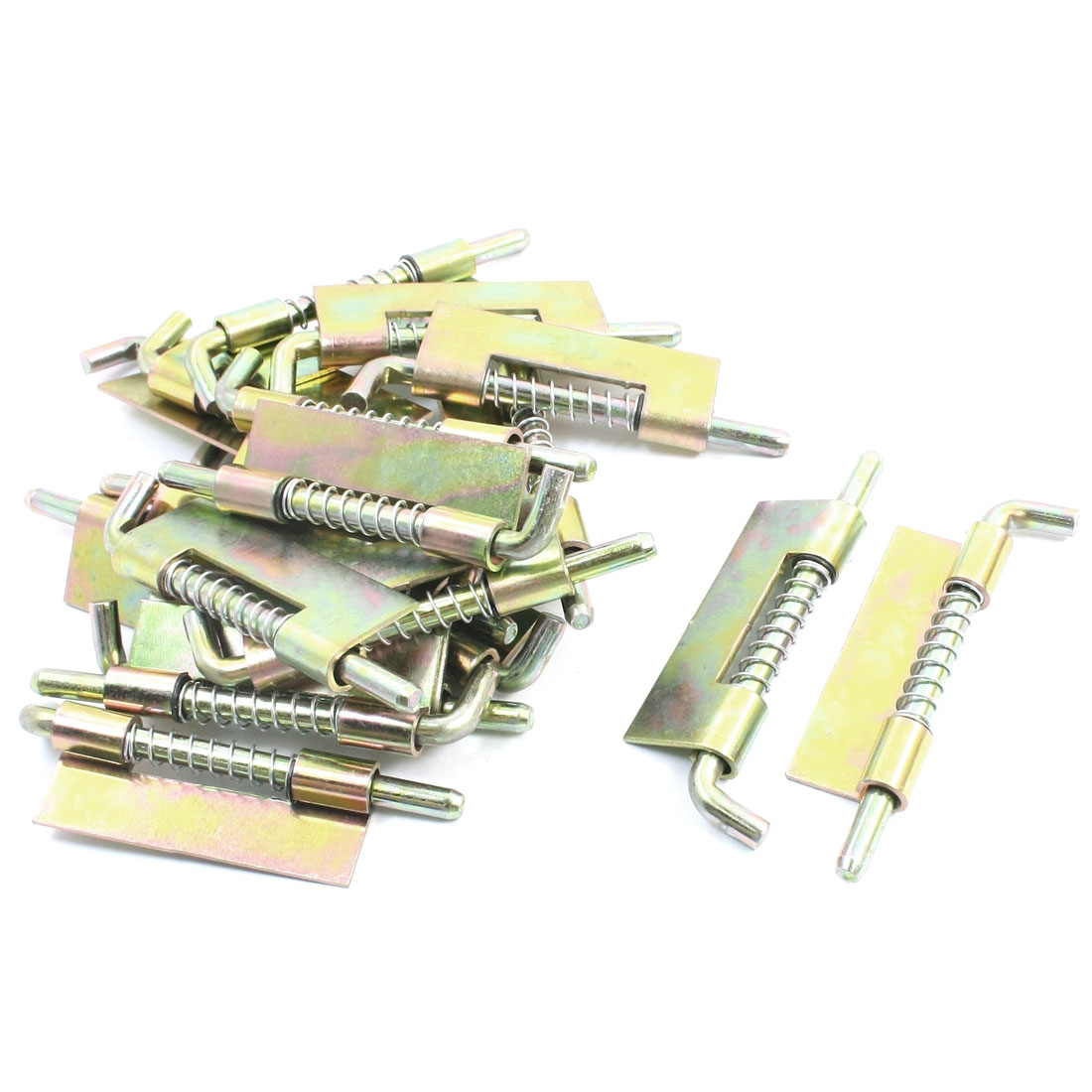 "Home Door Window Safety Part Bronze Tone Metal Right-handed Spring Loaded Barrel Bolt Latch 3.5"" 20Pcs"