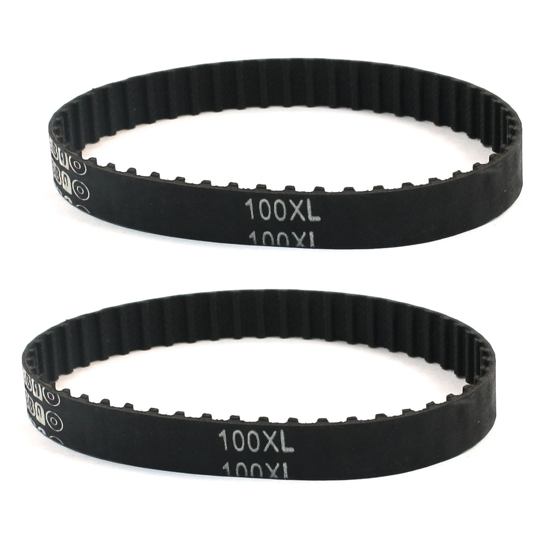 "Replacement 100XL 10"" Girth 5.08mm Pitch 50-Teeth Black Rubber Cogged Industrial Synchro Machine Timing Belt 2Pcs"