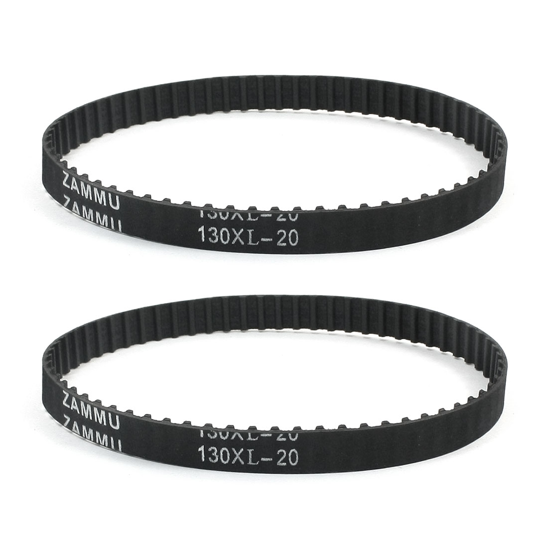 "130XL 13"" Girth 5.08mm Pitch 65-Teeth Black Rubber Industrial Synchro Machine Synchronous Timing Belt 2Pcs"