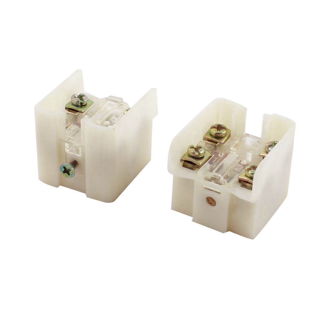 2Pcs AC 220V 5A 4 Screw Terminals DPST Momentary Miniature Micro Switch