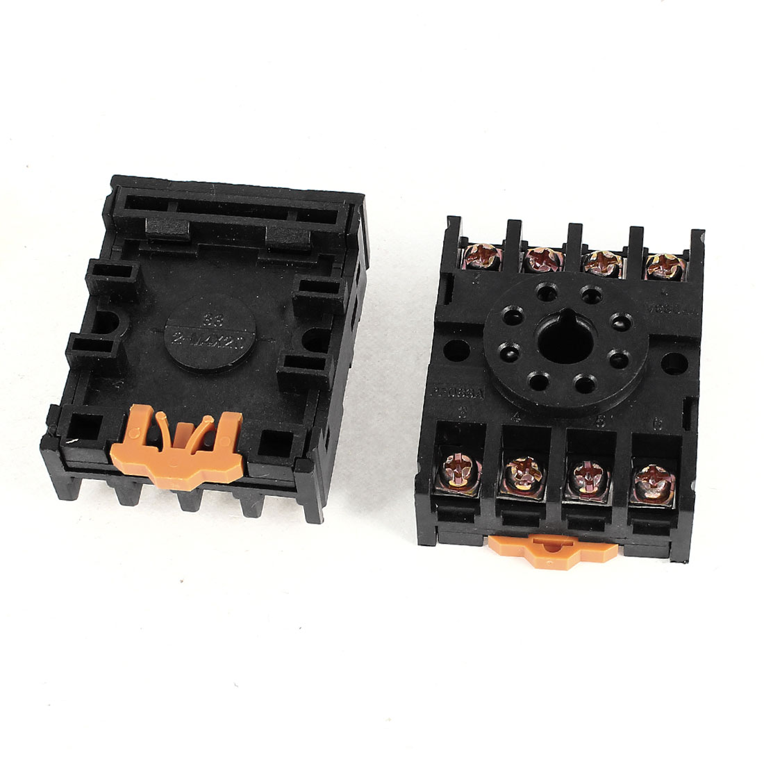 2Pcs PF083A 8 Pin Time Relay Screw Terminal Socket Base 12 Amps 300 Volts for JQX-10F-2Z MK2P