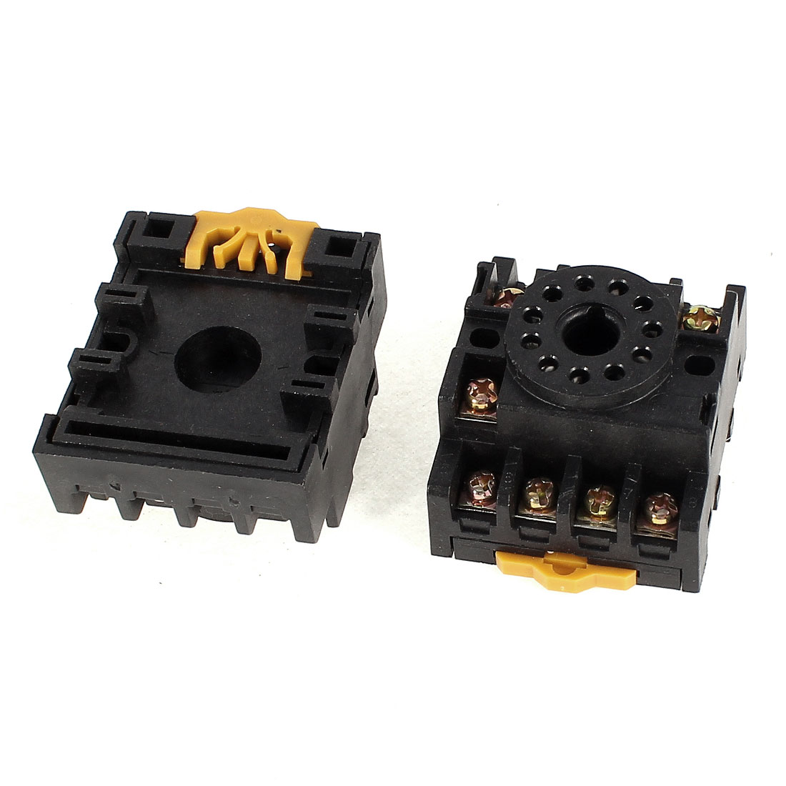 2Pcs PF113A 11 Positions Time Relay Screw Terminal Socket Base 12 Amps 300 Volts for JQX-10F-2Z MK2P