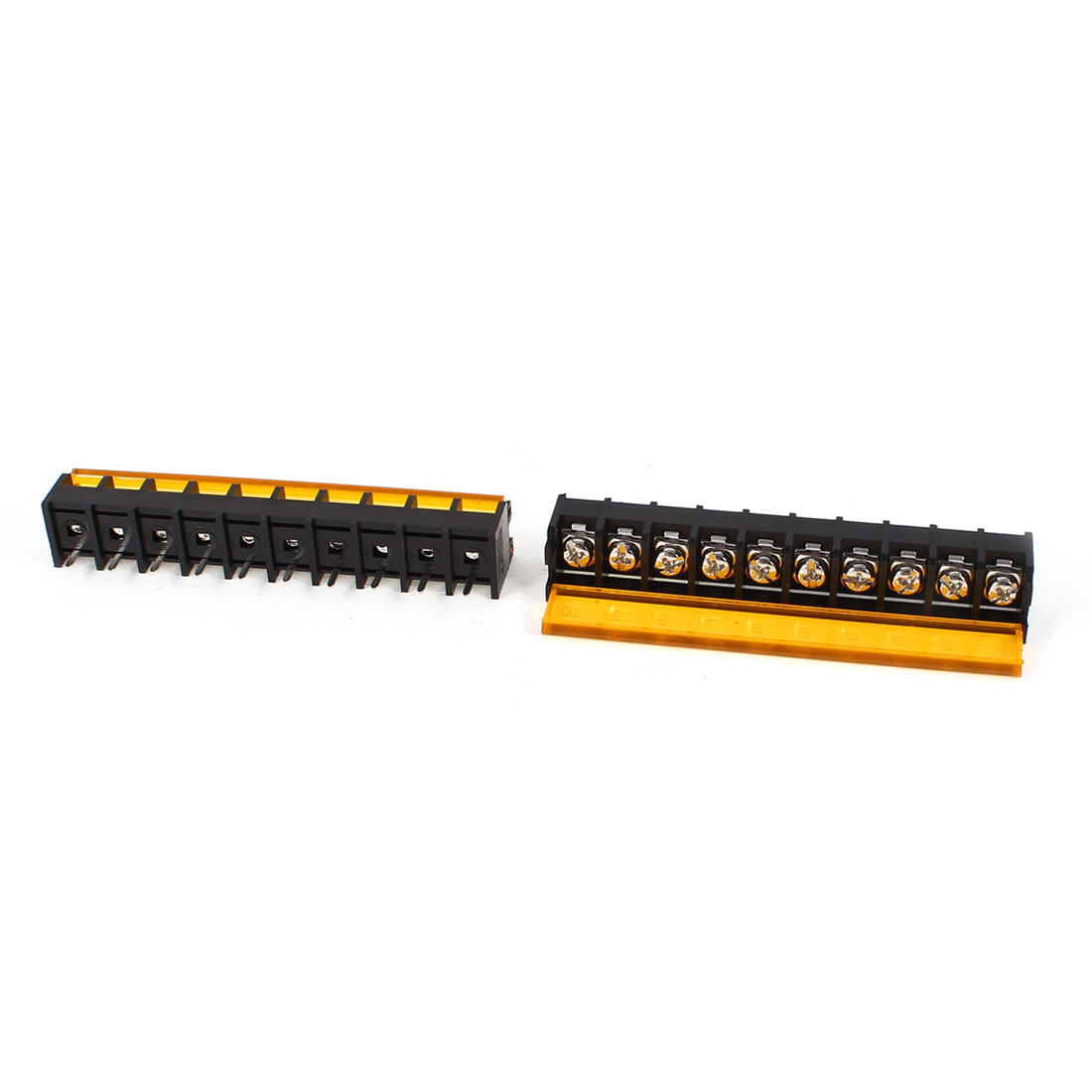 2Pcs 1 Rows 10 Position 9.5mm Pitch Screw Terminal Barrier Block Strip 300V 30A