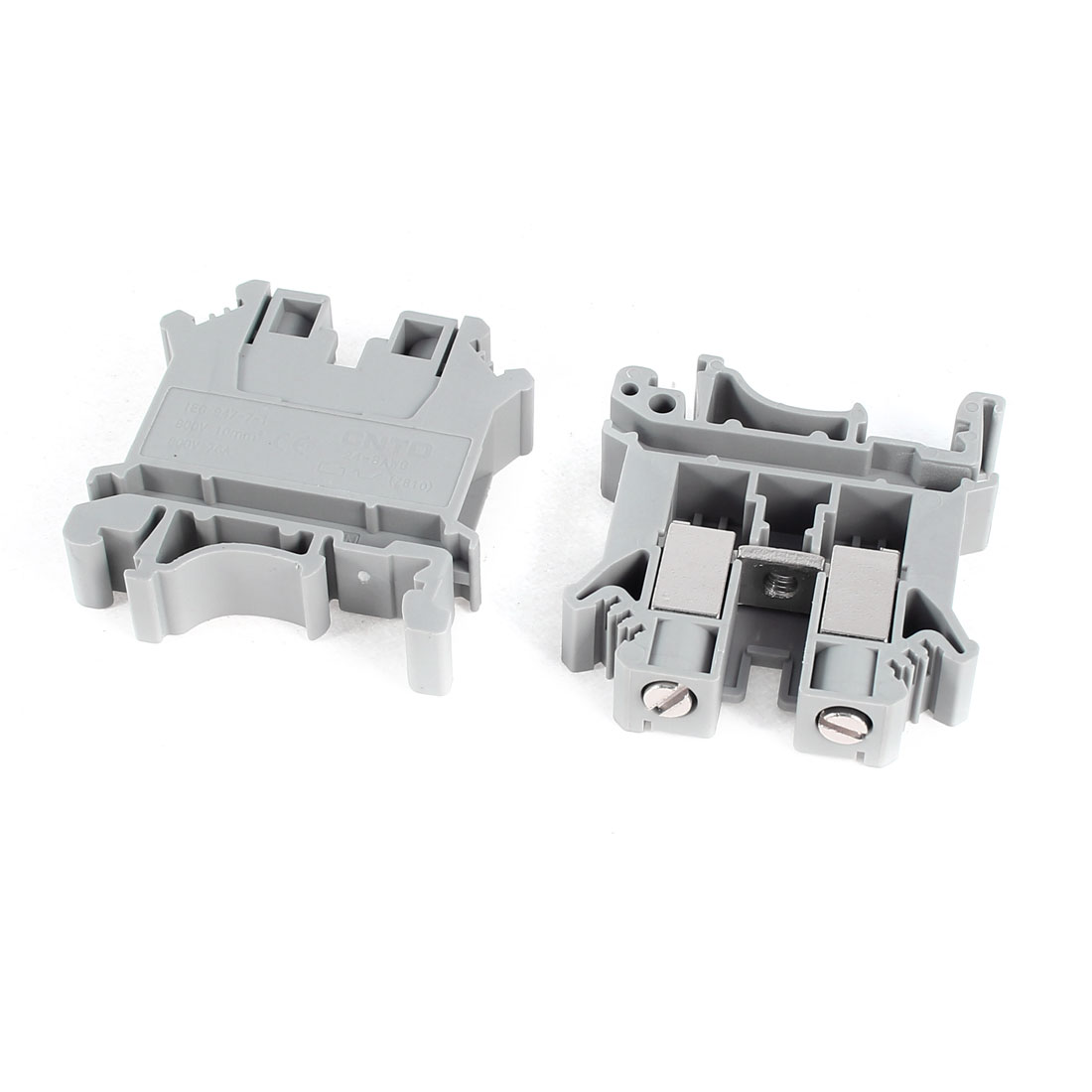 2 Pcs Universal UK10N 800V 76A Electrical DIN Rail Screw Terminal Block