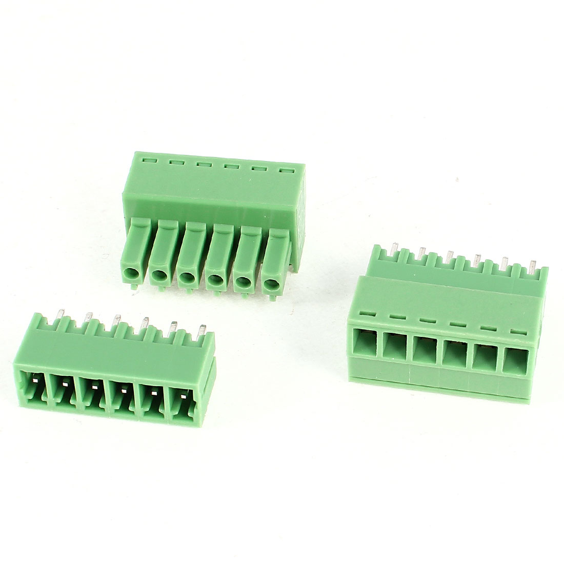 2Pcs 2EDG3.5-6P 3.5mm Pitch 6 Straight Pins Female and Male Wire Pluggable Terminal Barrier Strip Block Connector 300V 8A