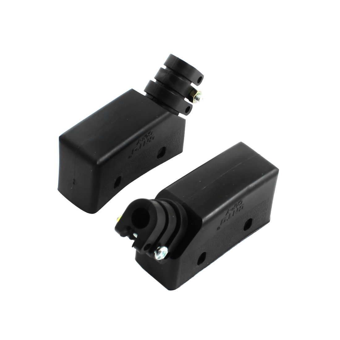 2Pcs Black Rubber Waterproof Limit Switch Protector Case Holder Cap