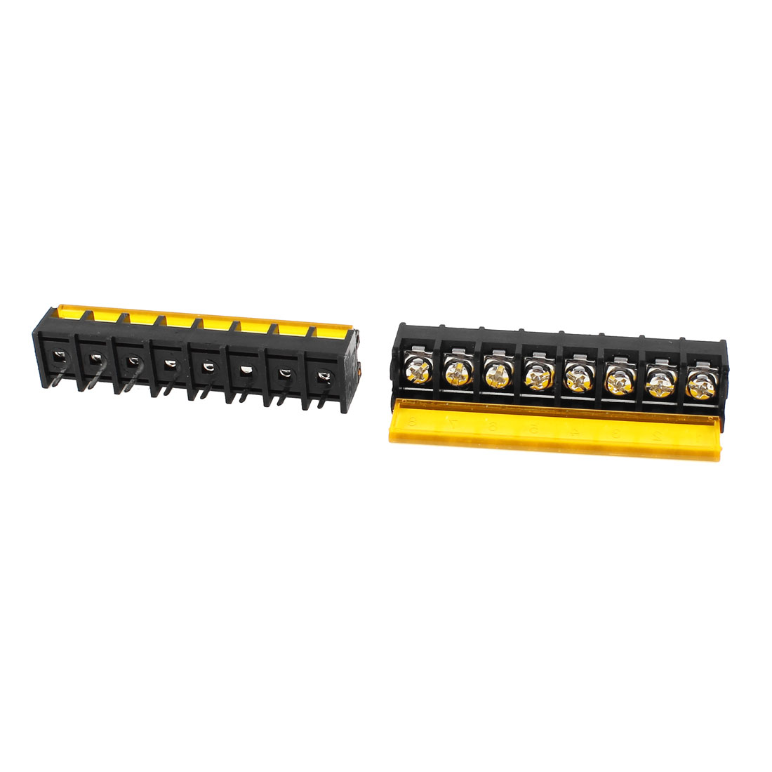 2Pcs 1 Rows 8 Position 9.5mm Pitch Screw Terminal Barrier Block Strip 300V 30A