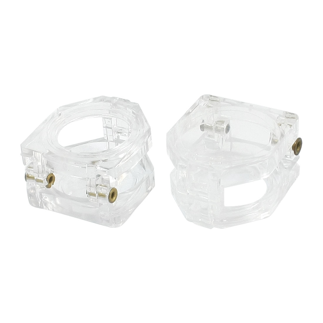 2Pcs Clear 22mm Plastic Cylinder Push Button Switch Protective Guard Protector Cover for LAY37 LAY7 LA39