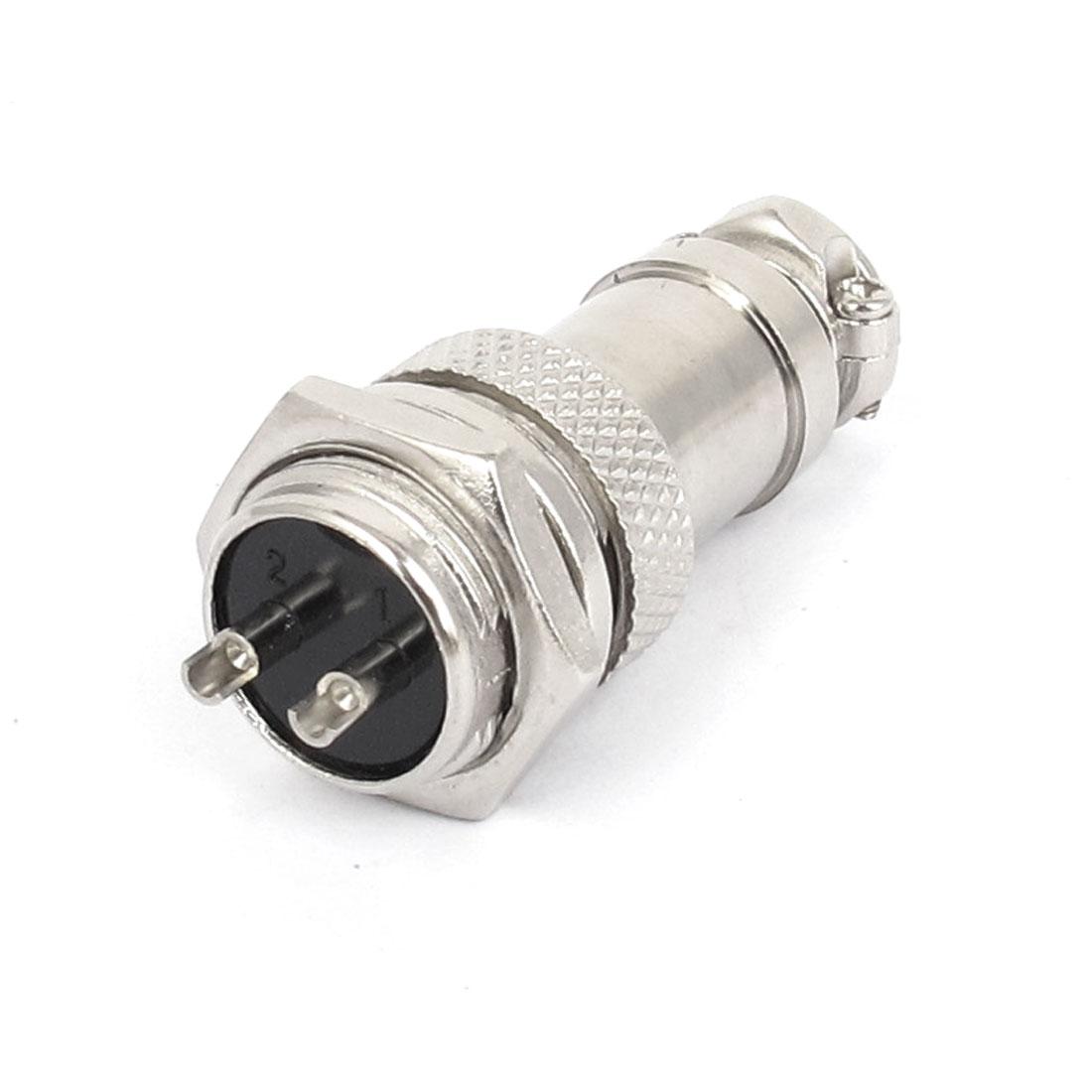 GX16-2 16mm Male Female Metal Aviation Plug Connector 250V 5A