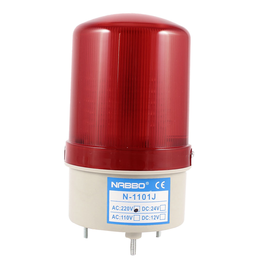 105-110dB Buzzer Siren AC 220V Red LED Warning Light Signal Tower Lamp