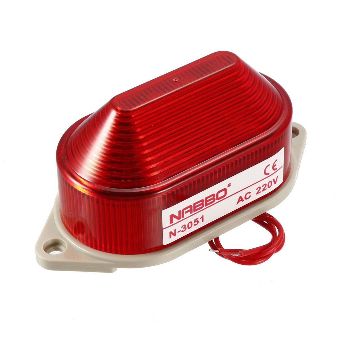 Industrial AC 220V Mini Red LED Strobe Flash Warning Light Bulb Tower Lamp
