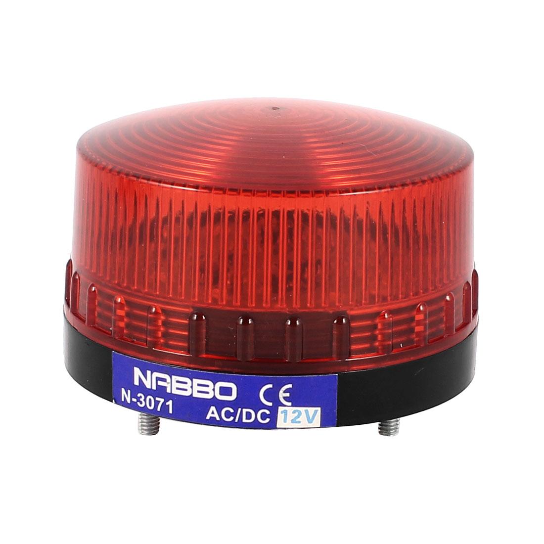 Industrial DC 12V Red LED Blinking Warning Light Bulb Signal Tower Lamp N-3071