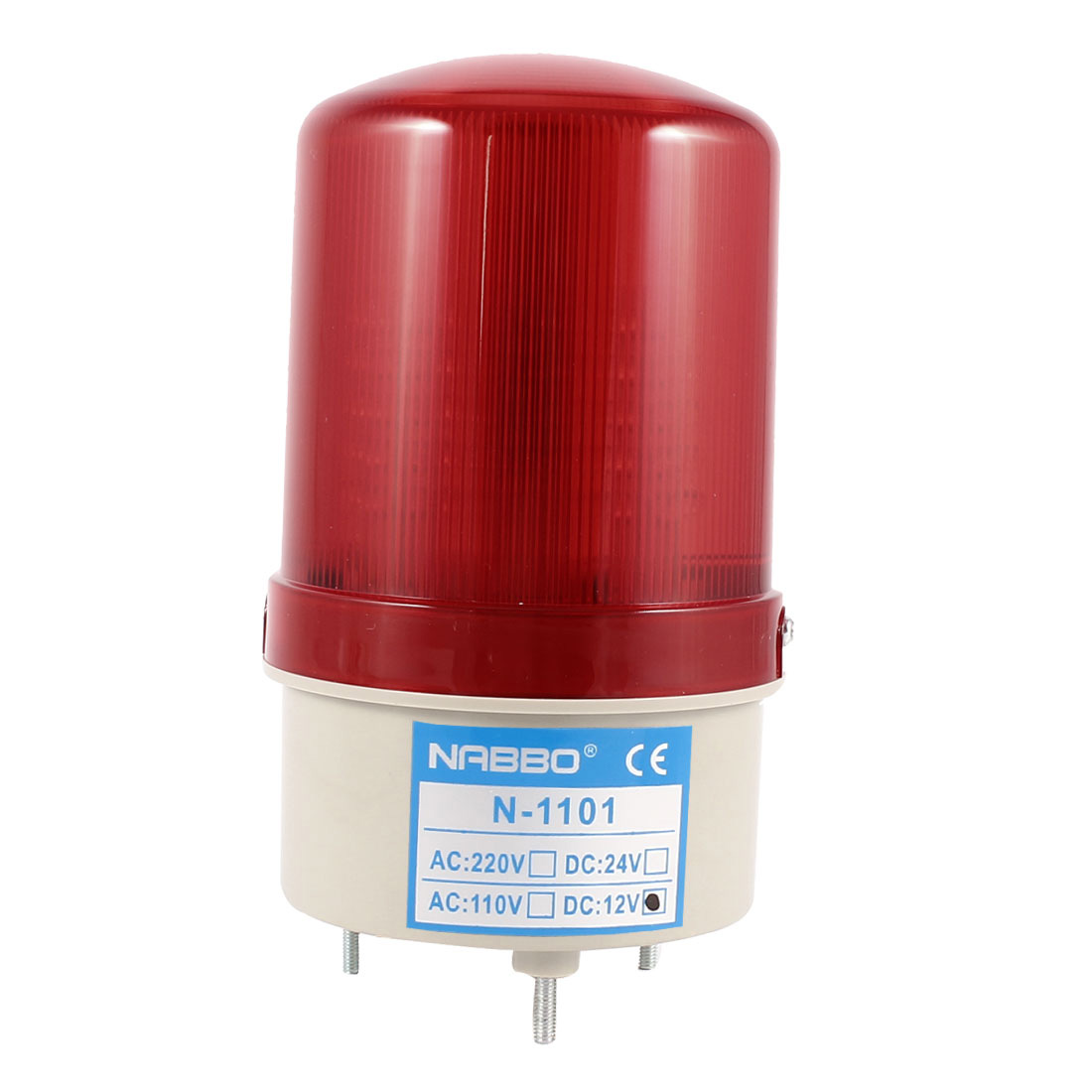 Industrial DC 12V Red LED Blinking Rotating Warning Light Bulb Signal Tower Lamp