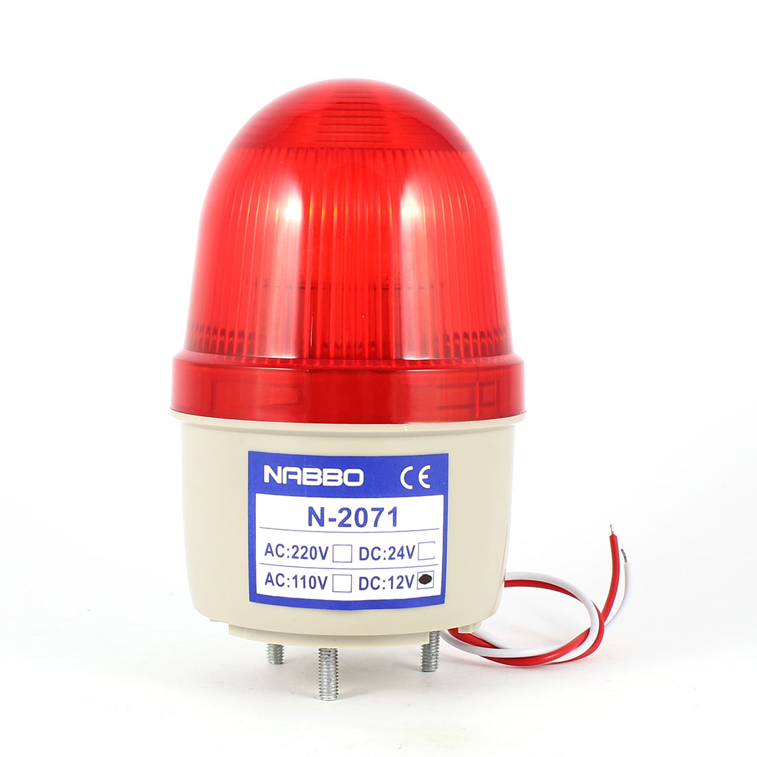 Industrial DC 12V Mini Red LED Flash Warning Light Bulb Signal Tower Lamp N-2071