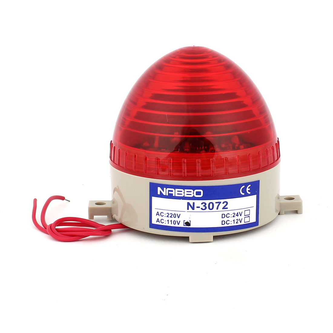 Industrial AC 110V Red LED Blinking Warning Light Bulb Signal Tower Lamp N-3072