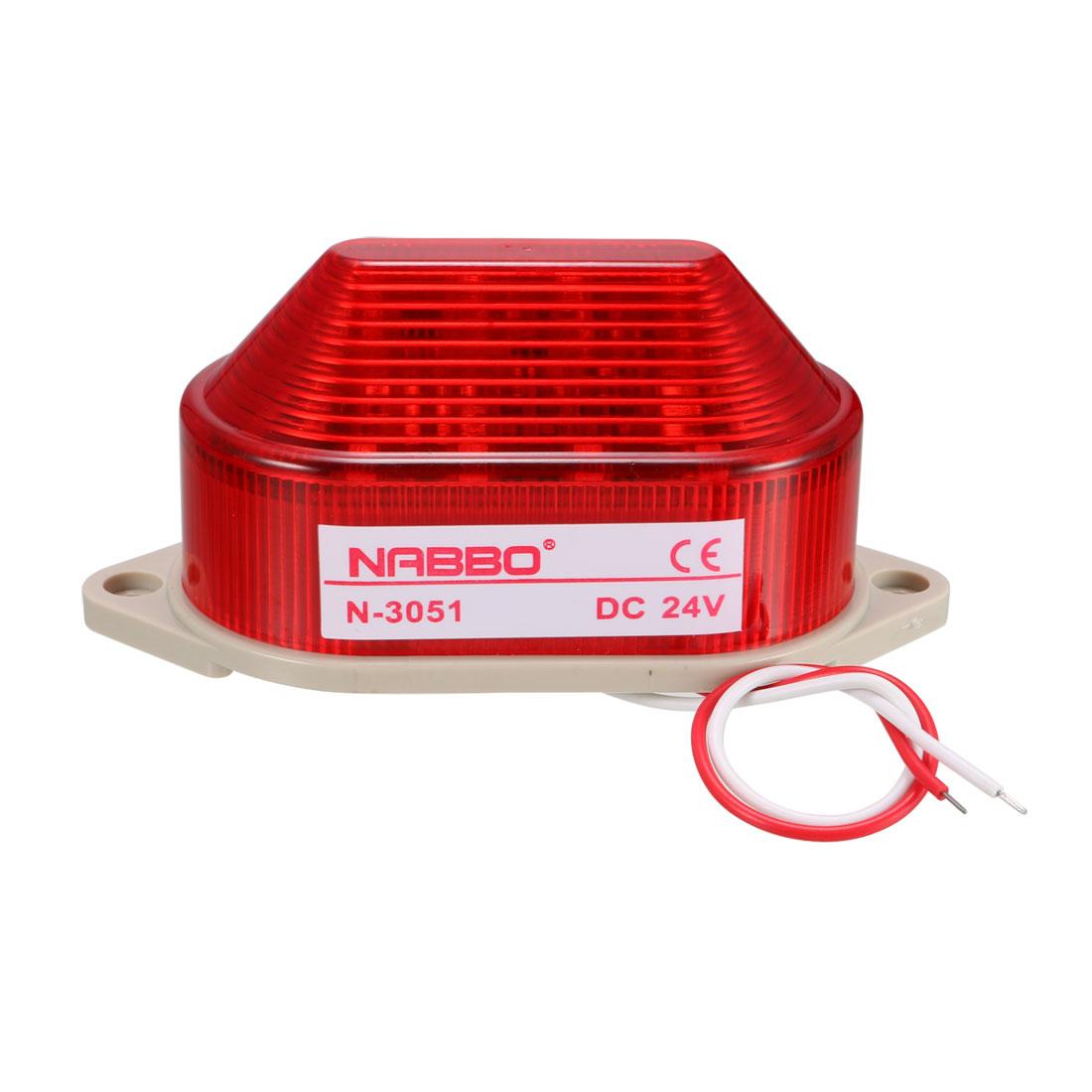 Industrial DC 24V Mini Red LED Strobe Flash Warning Light Bulb Tower Lamp