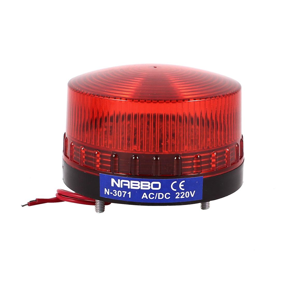 Industrial AC 220V Red LED Blinking Warning Light Bulb Signal Tower Lamp N-3071