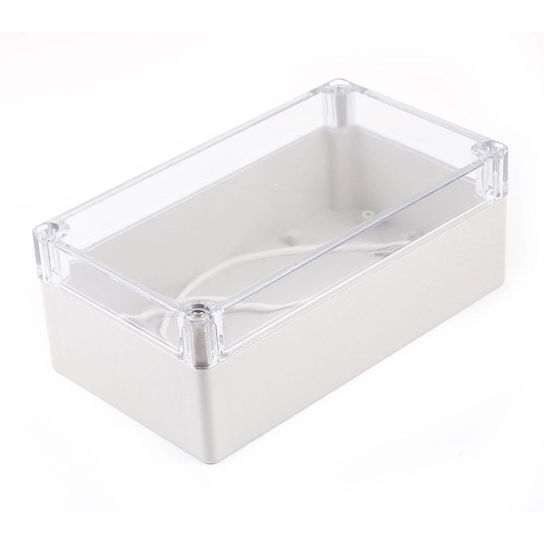 158mm x 90mm x 60mm Waterproof Clear Gray Plastic Rectangle Case Junction Box